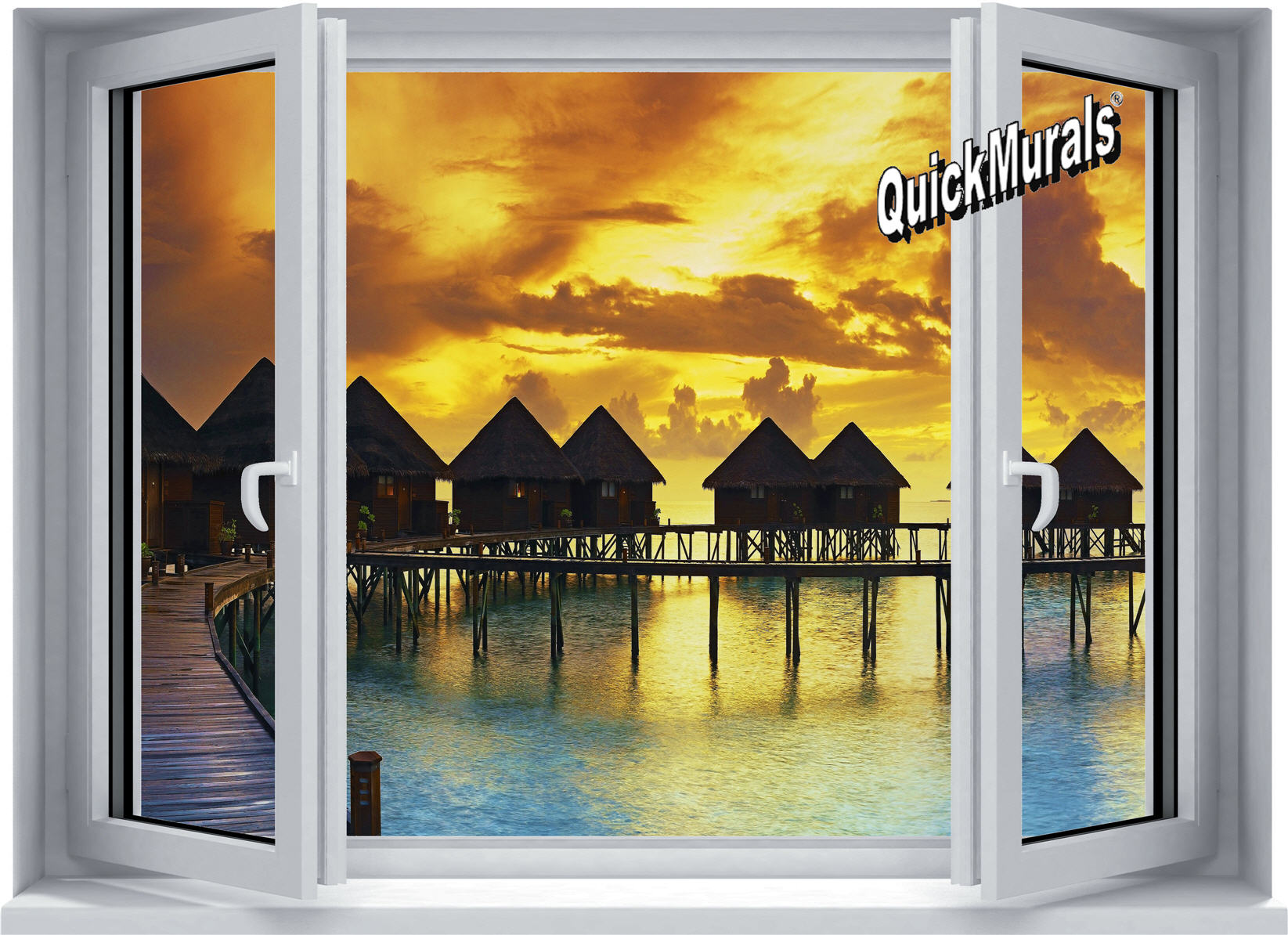 TheWallMuralStore.com :: Self Adhesive Wall Murals :: Sunset Resort ...