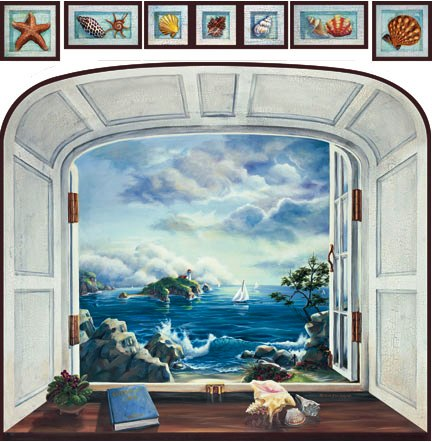 Window murals for Bay view wall mural