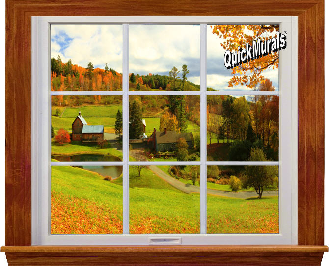 TheWallMuralStorecom Self Adhesive Wall Murals Country Window