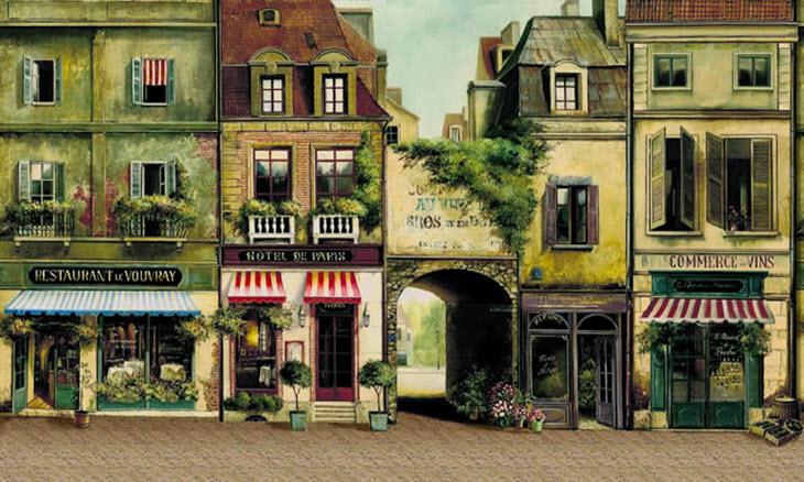 TheWallMuralStorecom Full Size Large Wall Murals La Rue De