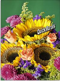 Autumn Bouquet Peel and Stick Wall Mural