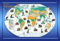 A World Of Animals Wall Map Mural NG94614