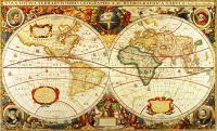 Antique World Map Wall Mural C873