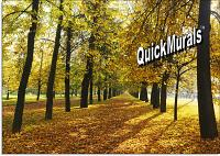 Autumn Park Peel and Stick Wall Mural